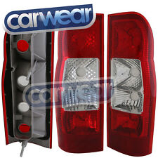 FORD TRANSIT VAN VM 06- CLEAR RED TAIL LIGHTS PAIR Replacement LH+RH LHS+RHS