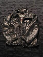 Big Chill Vintage Girls Faux Lather Jacket Size Medium