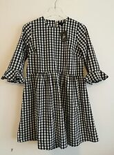 Primark black and white gingham checked smock dress UK size 12 EUR 40