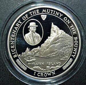 Bicentenary of the Mutiny on the Bounty: Pitcairn Island, 1989 Isle of Man Crown