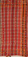Vintage Tribal Flat-Weave 4x7 Kilim Dhurrie Oriental Hand-Woven Area Rug