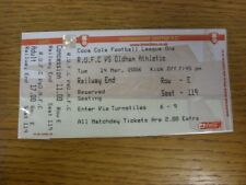 14/03/2006 Ticket: Rotherham United v Oldham Athletic (complete). If this item h
