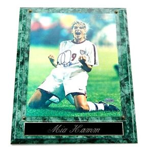 Mia Hamm autographed signed 1999 US Women's World Cup 8x10 photo plaque STEINER