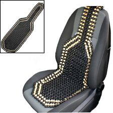 Black Wooden Bead Beaded Massage Front Seat Cushion Cover Car Van Truck Office