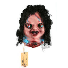 Scary Latex Decapitated Doll Face Halloween Mask Party Costume Props Fancy Dress