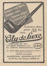 Z9190 Pipe City de Luxe GBD -  Pubblicità d'epoca - 1929 Old advertising