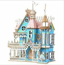 Wooden Dolls House Victorian gothic Dollhouse decorative craft wood DIY Kit