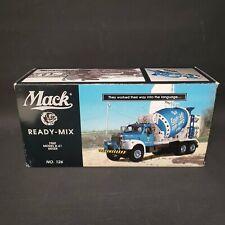 2001 First Gear Mack Ready Mix 1960 Model B-61 Mixer 1/34 Scale Blue