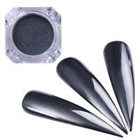 0.5g Spiegel Schwarz Nagel Glitzer Pulver Nail Art Chrom Pigment BORN PRETTY