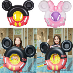 Cartoon Micky Inflatable Seat Bathtub Swimming Ring Pool Float Toy for Baby Kids