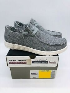 Skechers Streetwear Men's 56220 Relaxed Fit Air Cooled Slip On Sneakers - Gray