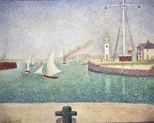 Entrance of The Port of Honfleur by Georges Seurat 60cm x 48cm Art Paper Print