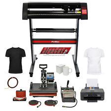 More details for 5-in-1 heat press vinyl cutter printer sublimation start up business bundle kit