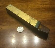 vintage carbide tipped LH lathe cutting bit 1 x 1 x 7 NTA firthite machine shop