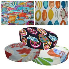 "2""Thick-Round Box Shape Cover*A-Grade Cotton Canvas Chair Seat Cushion Case*Lf3"