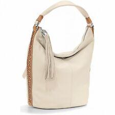 NWT Brighton COLLINS BUCKET Bag Cream Leather Shoulder Purse Handbag MSRP $350
