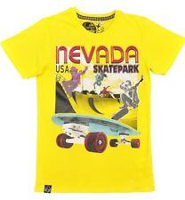 Magliette e maglie giallo con girocollo per bambini dai 2 ai 16 anni 100% Cotone