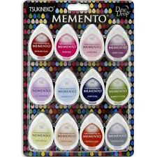 New Tsukineko Memento INK PADS SET 12 Dew Drop inkpads SORBET SCOOPS free us shp