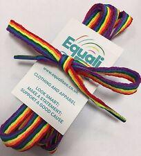 RAINBOW LACES LGBT SHOES LACES RAINBOW FLAG LACE 130cm laces flat PRIDE LGBT
