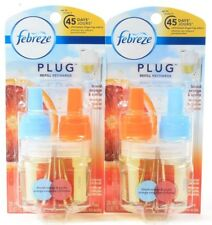 2 Febreze Plug Oil Refill Blood Orange Spitz Eliminates Odors Up To 45 Days