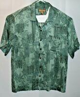 Caribean Joe Men's Hawaiian Floral short sleeve button down shirt size XL