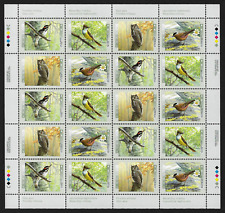 Canada Stamps — Full Pane of 20 — Birds of Canada #1710-1713 (1713a) — MNH