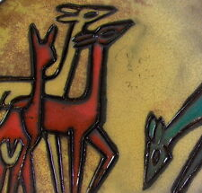 50er Jahre Keramik - RUSCHA  Wandteller - sign. HP