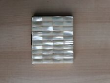 """New listing Vintage Mid-Century Art Deco Mother of Pearl Cigarette Case 3""""x3.5"""""""