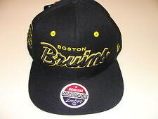 Zephyr Boston Bruins Black Snapback Cap Hat Headliner NHL Hockey OSFM