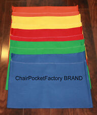 """SET OF 25 SMALL CHAIR POCKETS ~ Seat Sack Any COLOR(S) FITS Chairs 11"""" WIDE"""