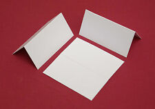 100 WHITE BLANK PLACE CARDS