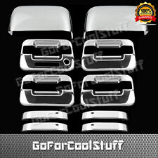For Ford F-150 Xlt/Fx4 04-08 4Drs Handle With Kp+Tophalf Mirror Chrome Covers