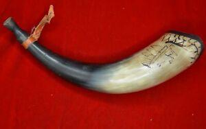 "vtg Cow/bull horn Chief design 12"" souvenir Tijuana"