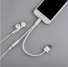 Adapter-Kabel 2-in-1 Kopfhörer 3,5mm-Buchse+USB-Lade-Stecker für iPhone 7 / Plus