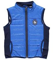 U.S. Polo ASSN. Kinder Weste Jacke mit USA-Print Innenfutter Freizeit-Weste Blau