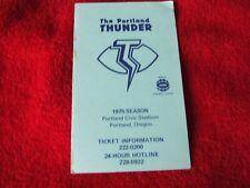 1975 Portland Thunder World Football League WFL Football Schedule