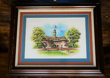 "DON CANNAVARO ""The Capitol at Williamsburg"" SIGNED 119/900 - America History Art"