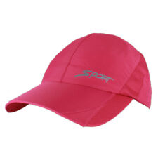 Lightweight Dry-Quick Running Cap Tennis Sport Performance Hat Adjustable Red