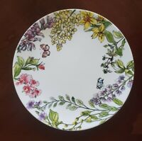 NEW (4) Grace Teaware Spring Floral Butterfly Garden Dinner Plates Home Decor