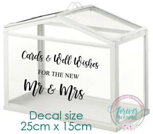 Wishing Well Decal, Cards and Well Wishes DECAL ONLY