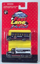Fast Lane 2 Pack Police Rioter Transport Riot Bus & Special Service Truck 3