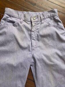 Vtg 1980s Lee High Waist Rise Lavender Pastel Corduroy Pants Jeans Sz L