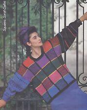Sarah Dallas Squares Pullover Kit - Vintage Rowan Lightweight Dk Paintbox Shades