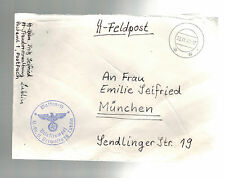 1941 Lublin Germany Occupied Poland Cover Waffen SS Feldpost to Munich