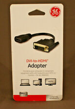 DVI To HDMI Adapter GE #33586 Full HD 1080P PC to HDTV, Monitor, Projector - NEW