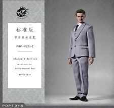 POP Toys 1:6 scale Men's Three Piece Suit Set (Gray) POP-X25C