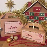 Personalised Christmas Eve Box - Xmas Favour Present - Ribbon Tissue Paper