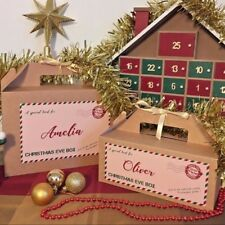 Personalised Kid's Name Christmas Eve Gift Box - Xmas Favour Present - Ribbon