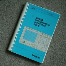Tektronix 2430A Programmers Reference Guide, 070-6338-01 Paper manual