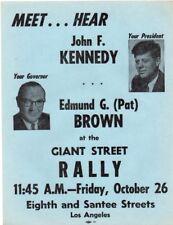 1962 Scarce John F Kennedy Cancelled Rally - Cuban Missile Crisis